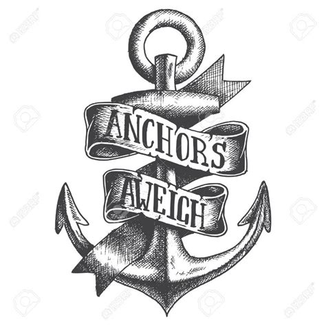 anchors aweigh tattoo clipart anchors away pencil and in color