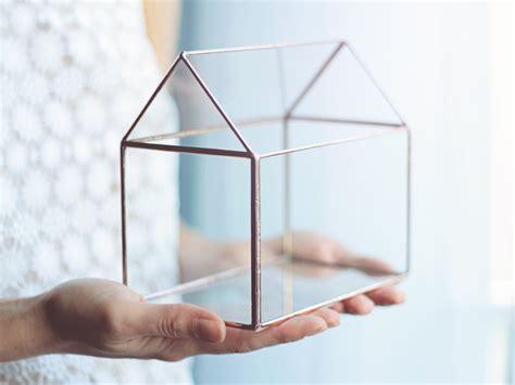 glass box house glass house terrarium lights box jewelry box