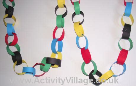 Paper Chain Crafts - olympic ring paper chain