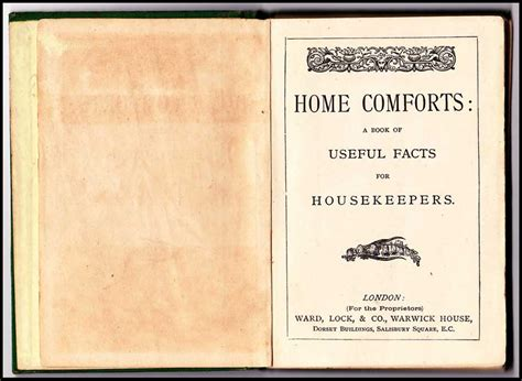 home comforts book home comforts a book of useful facts for housekeepers