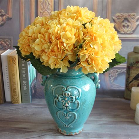 hydrangea home decor french rose artificial silk peony flower arrangement room