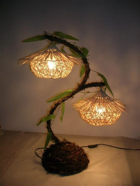 Rustic handwoven lamps from a brit in la