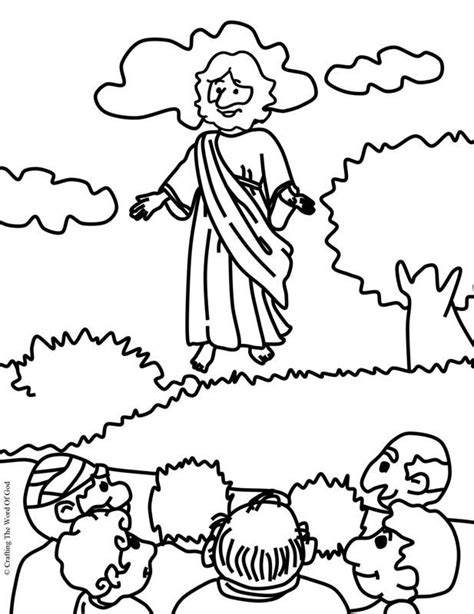 sunday school coloring pages jesus ascension jesus ascension coloring page day 5 sonspark labs