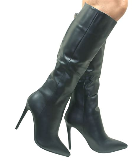 black knee high boots uk