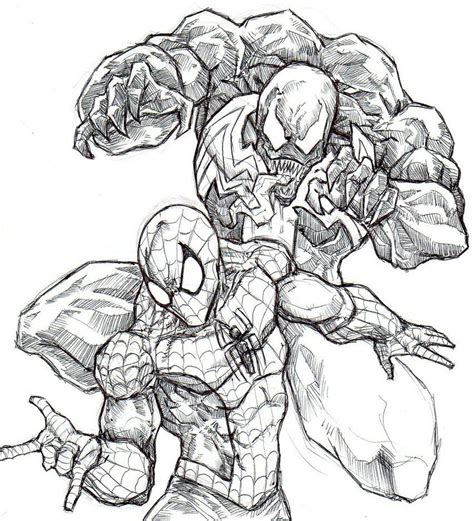 Spiderman Vs Venom Coloring Pages Coloring Home Coloring Pages Venom