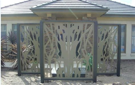 decorative panel fence decorative metal fence panels
