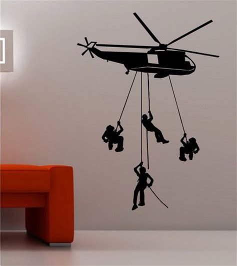 helicopter wall stickers helicopter army wallpaper stickers in bedroom walls