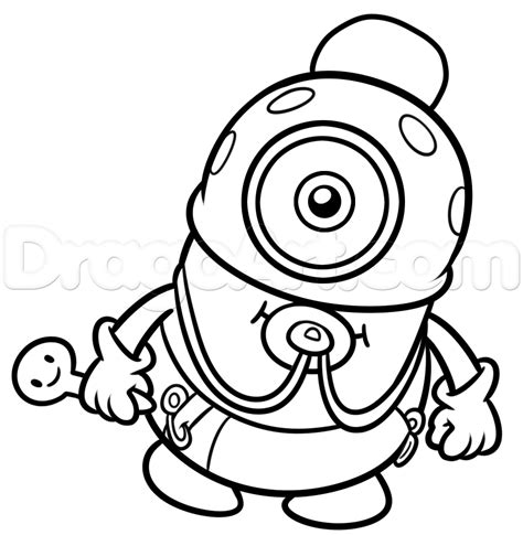 baby minion coloring page step 11 how to draw baby minion