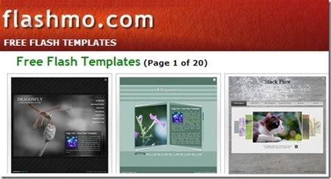 free flash templates free flash templates at flashmo