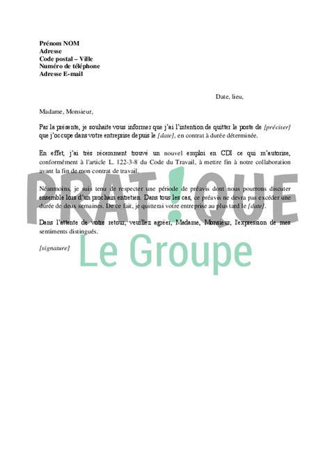 lettre de d 233 mission d un poste en cdd pratique fr