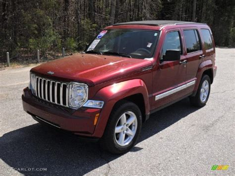 red jeep liberty 2008 2008 red rock crystal pearl jeep liberty limited 47157834