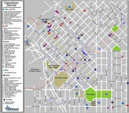 downtown denver colorado tourist map denver co mappery