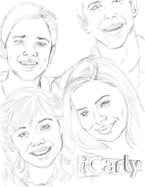 Icarly Coloring Pages To Print icarly coloring pages coloring pages to print