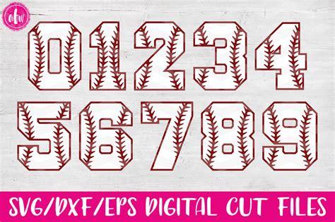 printable baseball numbers baseball softball numbers svg dxf design bundles