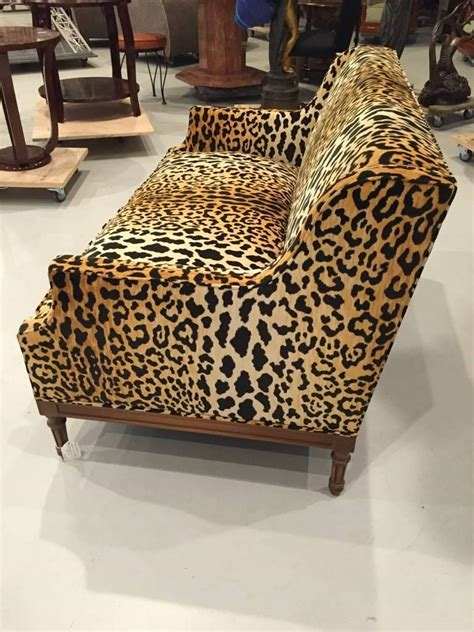 animal print couch mid century leopard print sofa for sale at 1stdibs