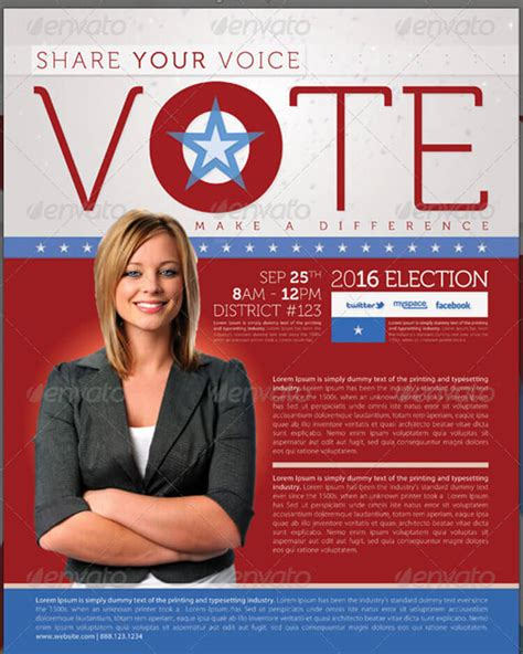 8 election brochure templates free psd design exles