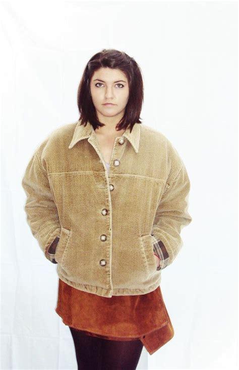 vintage camel jacket corduroy 90s grunge boxy trucker