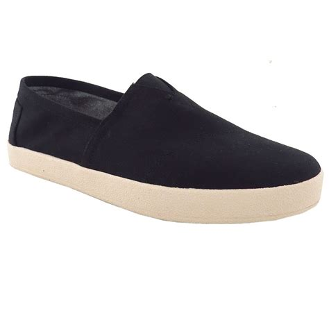toms shoes avalon sneaker black canvas 10007051 s