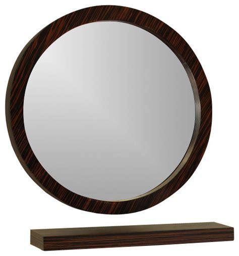 bathroom round mirror round mirror ebony 21 quot transitional bathroom mirrors
