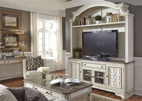 magnolia manor entertainment center  antique white
