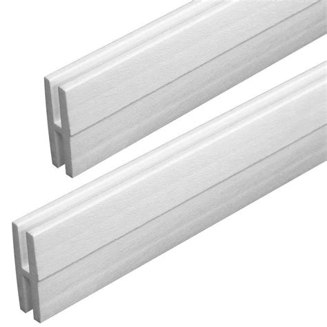 veranda        ft white vinyl lattice divider moulding  pack