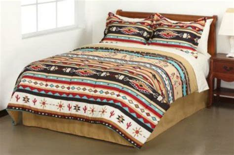native american bed set southwest turquoise tan red native american queen