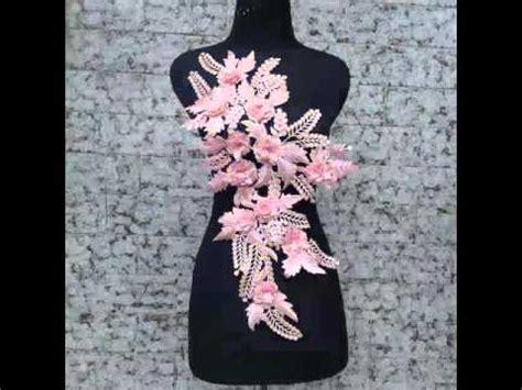 renda bordir motip bunga rambat