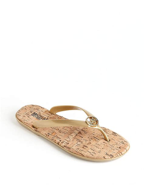 gold jelly sandals michael michael kors jet set jelly sandals in gold