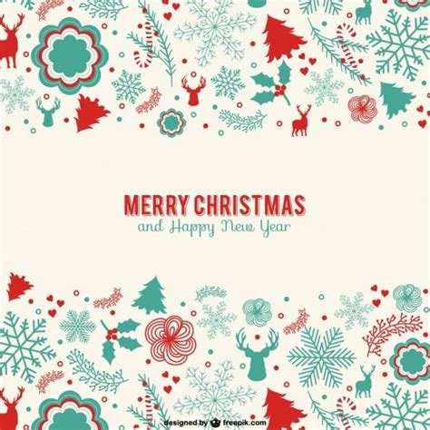 Vintage Minimalist Christmas Card Christmas Pinterest Merry Templates Free