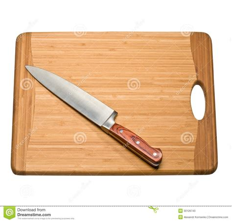 kitchen cutting knives knife on a cutting board stock image image of metal 30126743