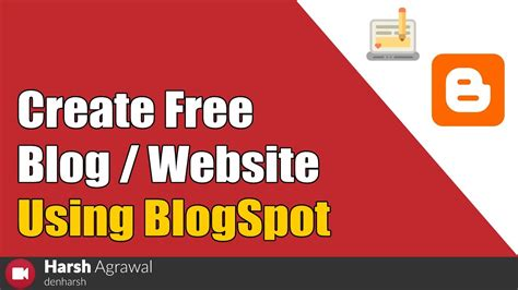 how to make a blog for free it make money online itinky how to create free blog website using blogspot com youtube