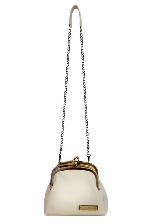 Bag Import Ready White G42 tammy benjamin three clasp leather bag from montmartre