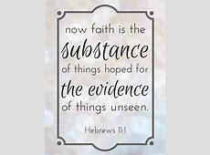 Verse of the Week Free Printable Hebrews 11:1 Explain Hebrews
