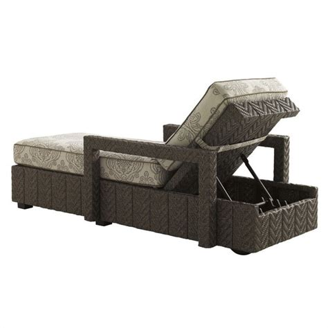 Grey Chaise Lounge Bahama Home Blue Olive Wicker Chaise Lounge In Gray 3230 75 61