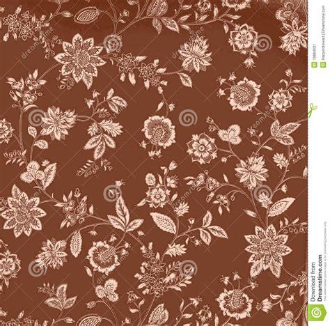 vintage brown floral background stock vector image 19884031