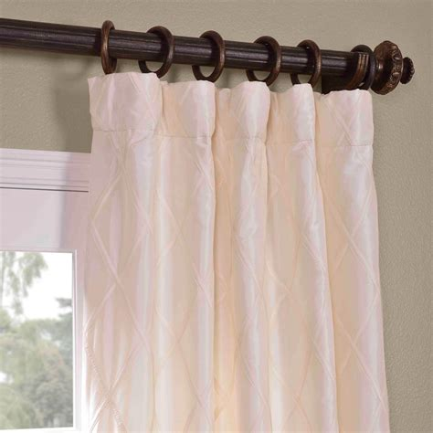 faux silk ivory curtains get alexandria off white taffeta faux silk curtains