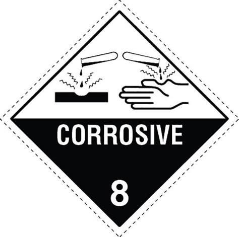 printable corrosive label class 8 0 corrosive labels slicker stickers