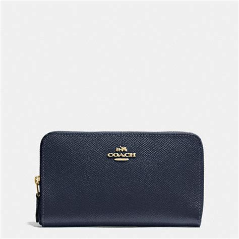 Coach Medium Wallet Ori coach medium zip around wallet in crossgrain leather
