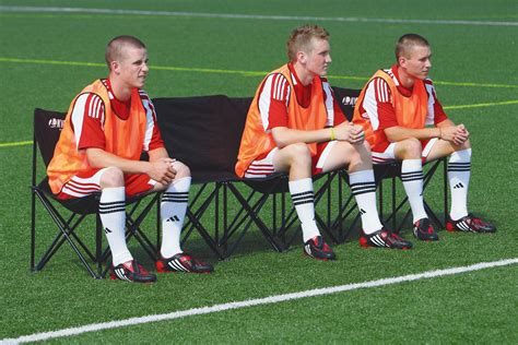 soccer team bench view larger