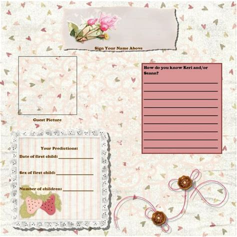 bridal shower guest book pages weddingbee photo gallery
