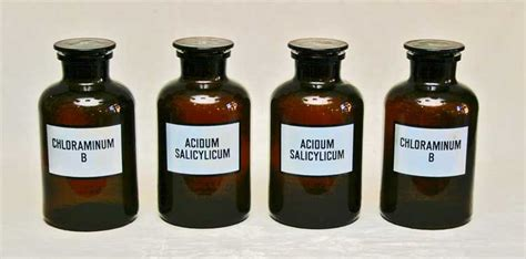 etiketten apothekerflaschen apotheker glas beh 228 lter gef 228 223 e apothekerflasche glas