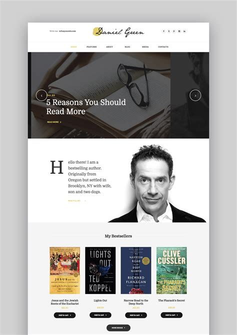 wordpress templates for articles 17 best wordpress themes for writers and authors 2017