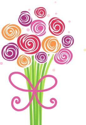 Vase Of Tulips Floral Clipart Flower Bouquet Pencil And In Color Floral