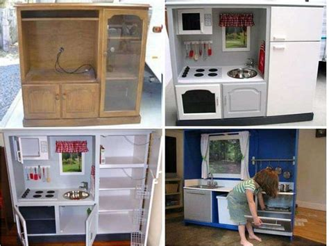 tv cabinet kitchen diy transform tv cabinet into a play kitchen