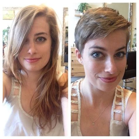 great pixie haircut makeovers before and after in her bedroom the locks i cut to her