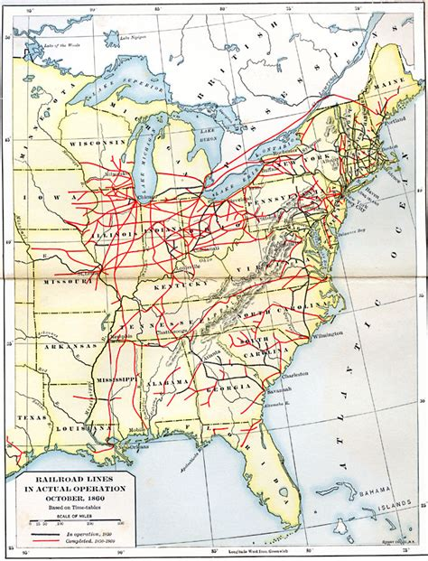 railroad map usa image gallery railroads 1850