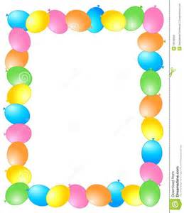 balloon border template free birthday card borders clip 54