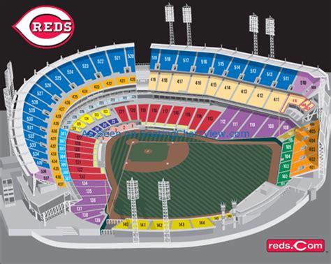 great american ballpark map great american park cincinnati oh seating chart view