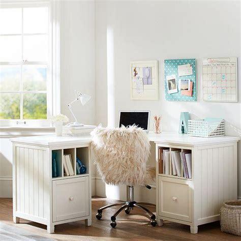 Storage Furniture Beadboard Corner Divider Desk Pbteen White Beadboard Desk