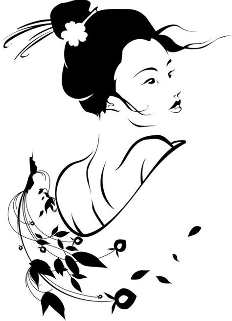 Geisha Tattoo Stencil | geisha girl stencils pinterest girls and geishas
